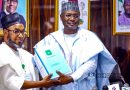 INEC Chairman, Yakubu Handsover to Retired AVM  Muazu as Tenure Ends